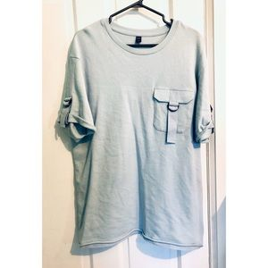 [KAMA] Casual Oversized Tee with Buckle Detail
